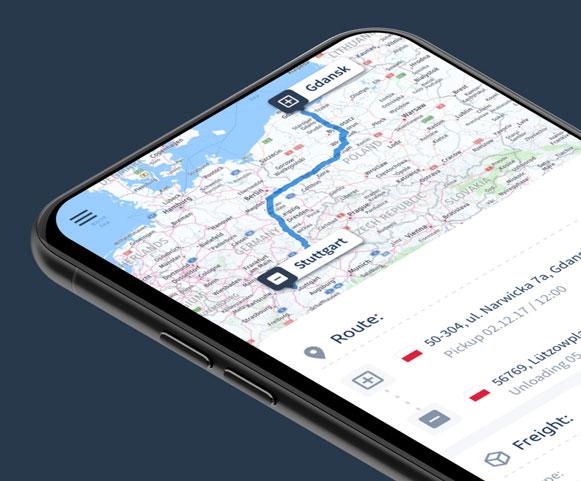 E-freight app & branding